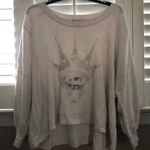 Wildfox cat pullover size small